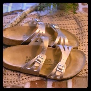 NWOT champagne colored Birkies size 38